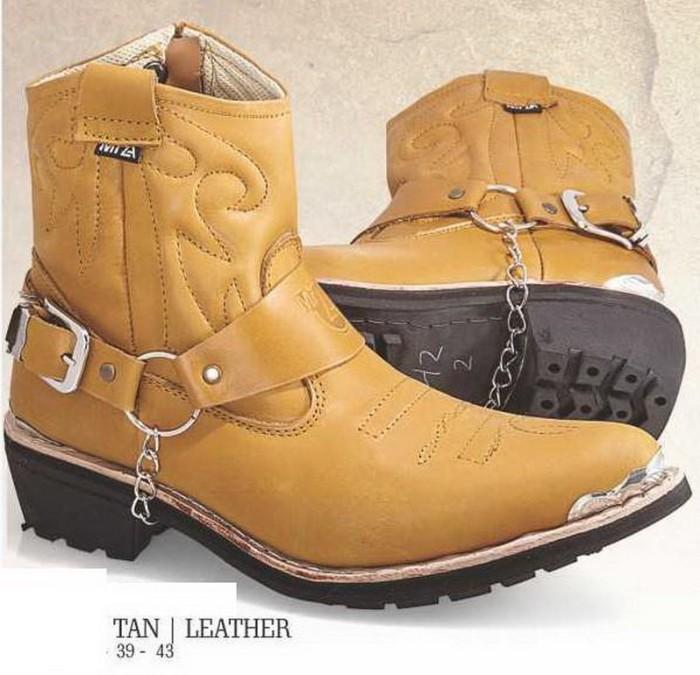 harga Sepatu Boots Casual Touring Bikers Pria Kulit,sepatu Cowboy Grx99 Tokopedia.com