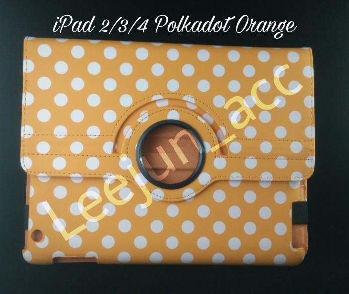 harga Ipad 2/3/4 smart rotary flip cover / case polkadot orange (hard) Tokopedia.com
