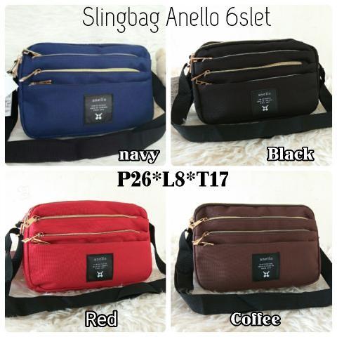 Foto Produk TAS ANELLO SELEMPANG 6RUANG Baru | Sling Bags Wanita Murah dari Claudia Krystina