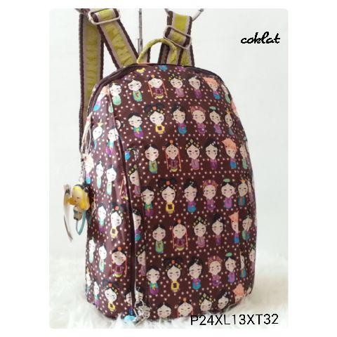Foto Produk Jual RANSEL HARAJUKU OVAL COKLAT Baru | Tas Backpack Wanita Murah dari Claudia Krystina
