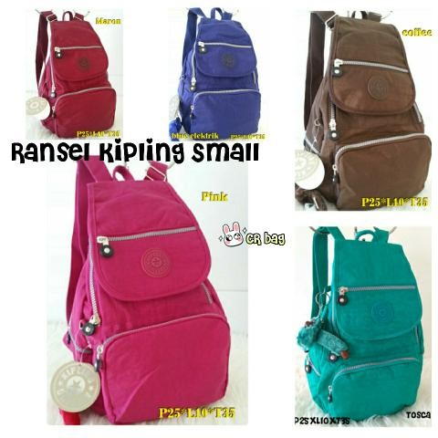 Foto Produk RANSEL KIPLING POLOS SMALL Baru | Tas Backpack Wanita Murah dari Claudia Krystina