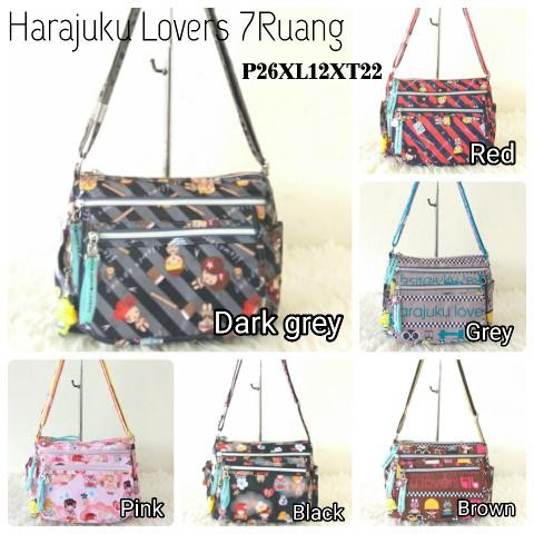 Foto Produk TAS SELEMPANG HARAJUKU LOVERS 7RUANG Baru | Sling Bags dari Claudia Krystina