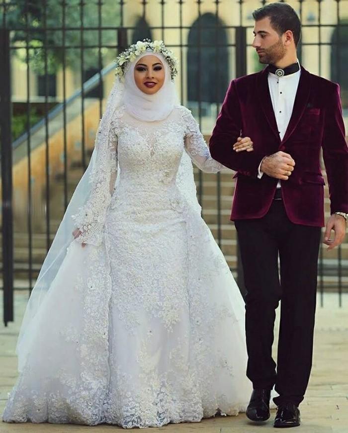 Jual Baju Pengantin Muslim Wedding Gown Import Gaun Pengantin Brokat