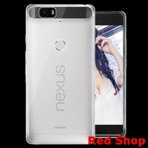 buy online 8fca9 da697 Jual Ultra Thin TPU Case for Huawei Nexus 6P - Transparent - Red Shop.    Tokopedia
