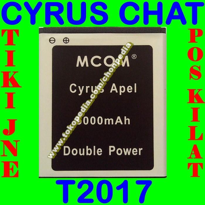 Baterai cyrus chat t2017 mcom m com batrai batre battery batere