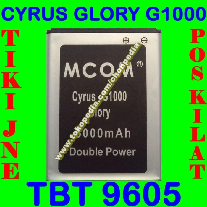 Baterai cyrus glory g1000 tbt9605 mcom batrai batre battery batere