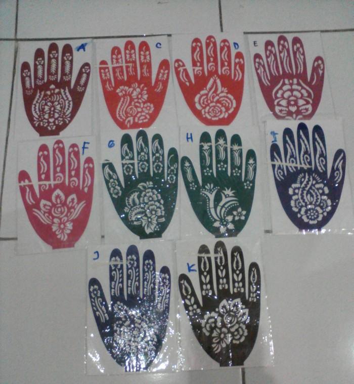 Jual Cetakan Pacar Hena Henna Alat Cetak Henna Art Tattoo Stiker