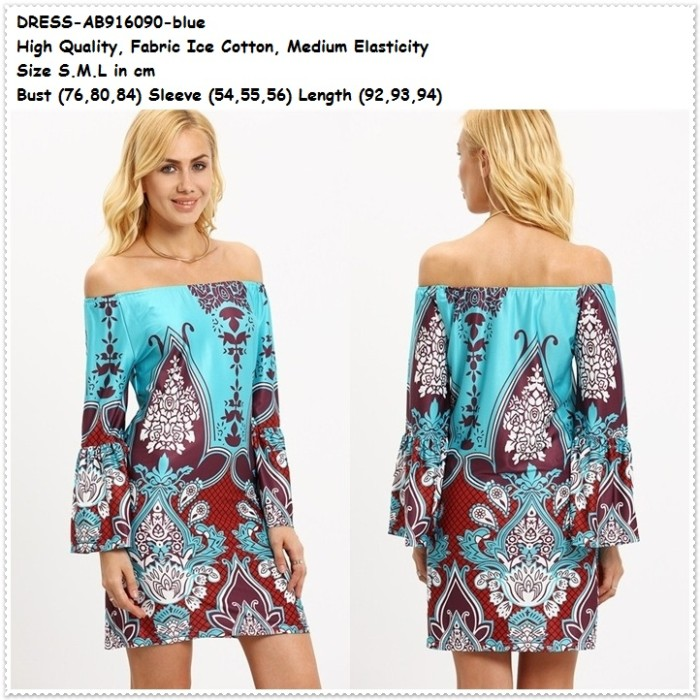 harga Mini dress sabrina boho etnik baju off shoulder wanita korea import Tokopedia.com