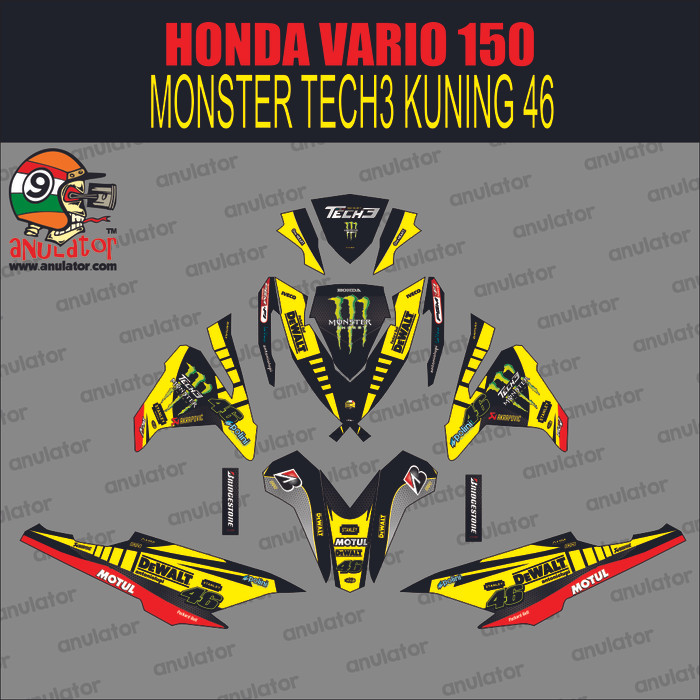 Foto Produk Sticker striping motor stiker Honda Vario 150 ESP Monster Spec B dari anulator-custom