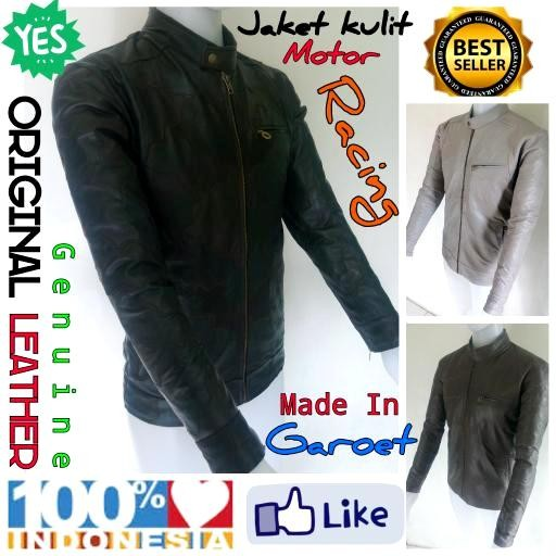 harga Terlaris...!!! jaket motor pria kulit domba asli garut kualitas super Tokopedia.com