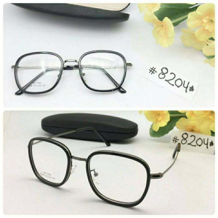 Jual Paket Kacamata Modern Vintage 8204 + Lensa Minus Antiradiasi ... 0c86cee57f