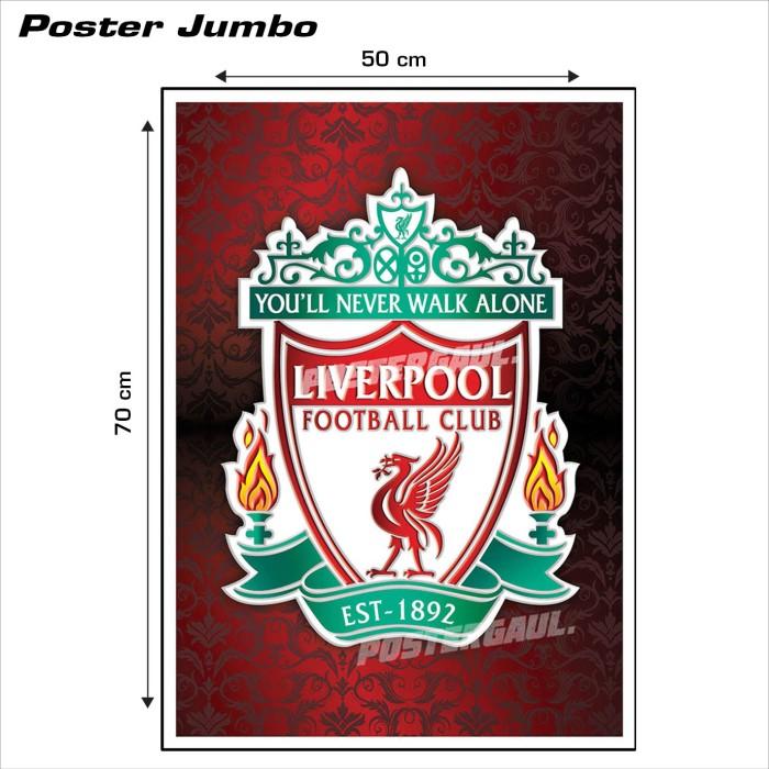 harga Poster logo liverpool fc #04 - jumbo size 50 x 70 cm Tokopedia.com