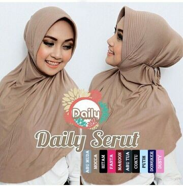 Foto Produk Hijab / Jilbab Instan Daily Serut dari Kukuruyu