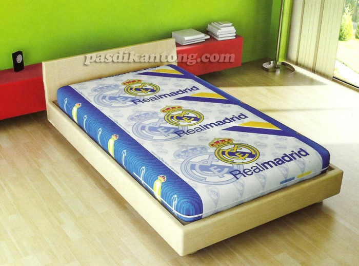Foto Produk Sarung Kasur/Busa Murah 100x200x20cm KLUB BOLA REAL MADRID dari Bima Tre