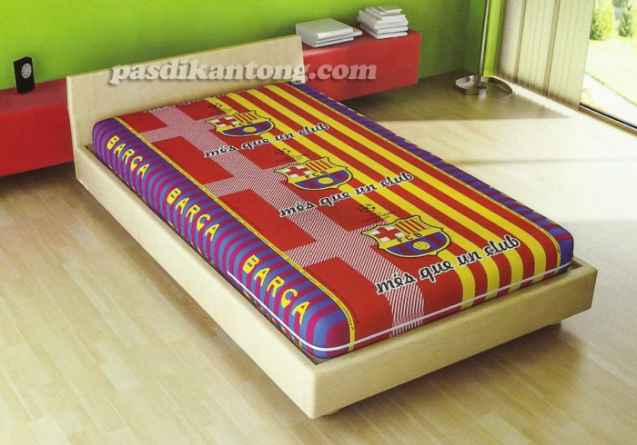 Foto Produk Sarung Kasur/Busa Murah 120x200x20cm KLub Bola Barcelona/Barca dari Bima Tre
