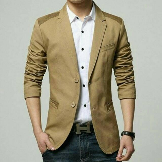 Jual Blazer Pria Treaco Light Brown Jas Coklat Muda Korea Stylish Formal Kota Bandung Dunia Blazzer Indonesia Tokopedia