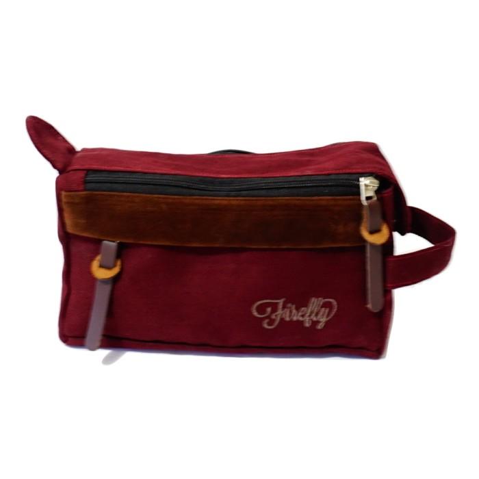 harga Tas pouch dopp kit firefly bag parker maroon Tokopedia.com
