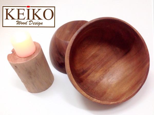 Foto Produk mangkok kayu 15cm dari KEIKO Wood Design