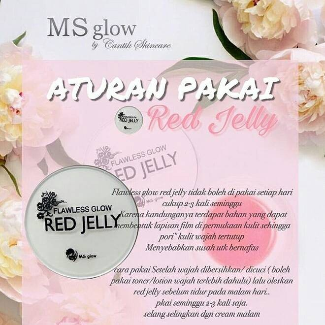 FLAWLESS GLOW Red Jelly Ms Glow by Cantik Skincare