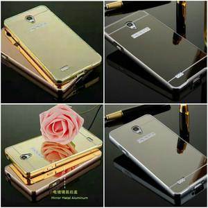Hardcase Softcase Gold Slide Mirror Bumper Case Oppo Joy 3 / Joy R1001