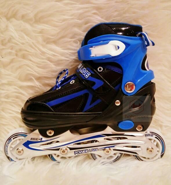 harga Sepatu roda anak inline skate power line 5500 - biru Tokopedia.com