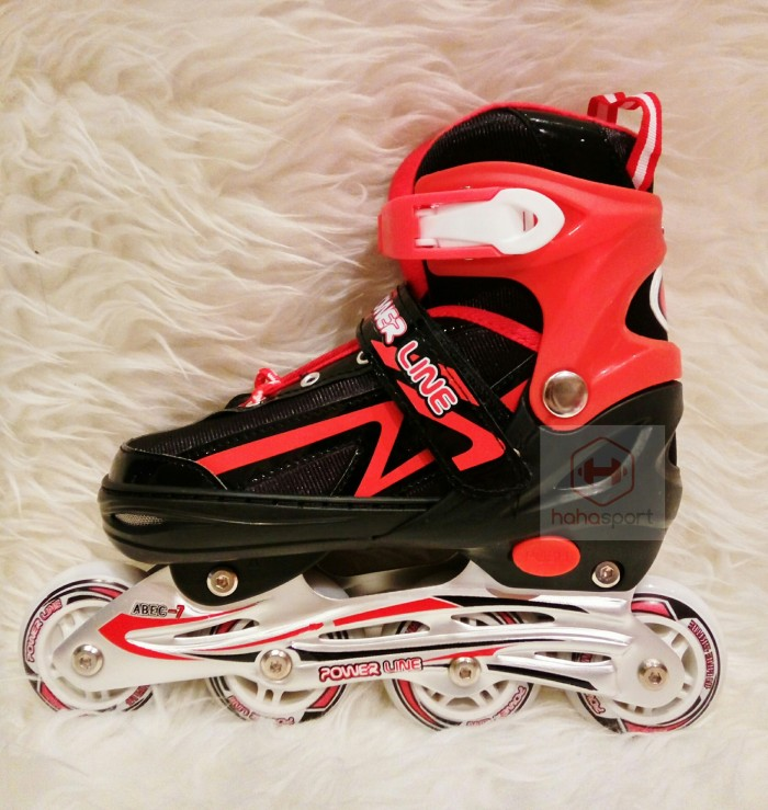 ... harga Sepatu roda anak inline skate power line 5500 - merah  Tokopedia.com 9213b9e6ec