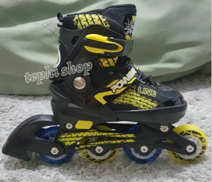 Jual Sepatu Roda Anak MURAH PowerLine PL 5800 - KUNING - Tephi shop ... 3a57dfbf89