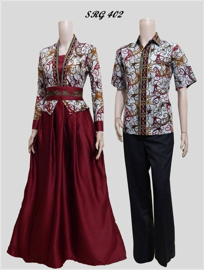 Jual Batik Couple Modern Anak Muda Lengan Panjang Tasmirah Batik