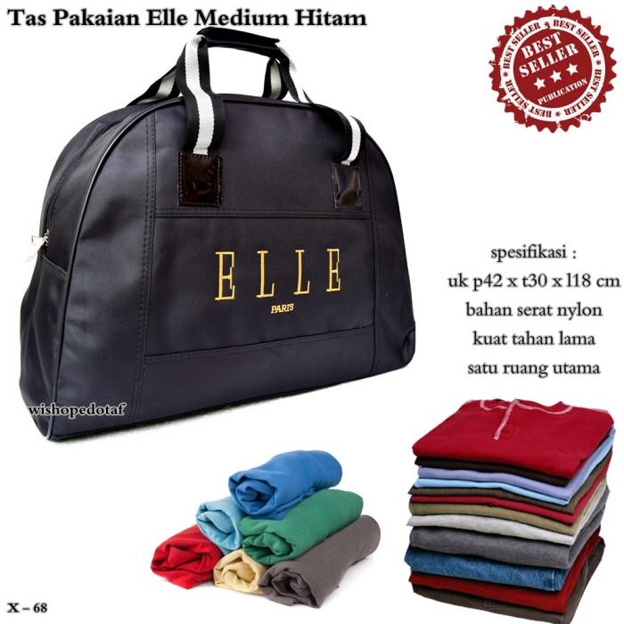 Jual tas travel elle   hand bag elle   tas pakaian elle medium hitam ... 28bf2853c5