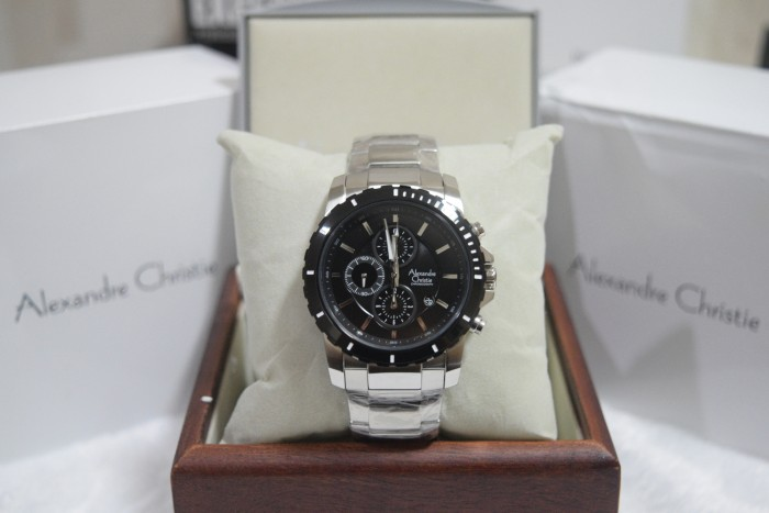 harga Alexandre christie ac 6141 silver plat black for men Tokopedia.com