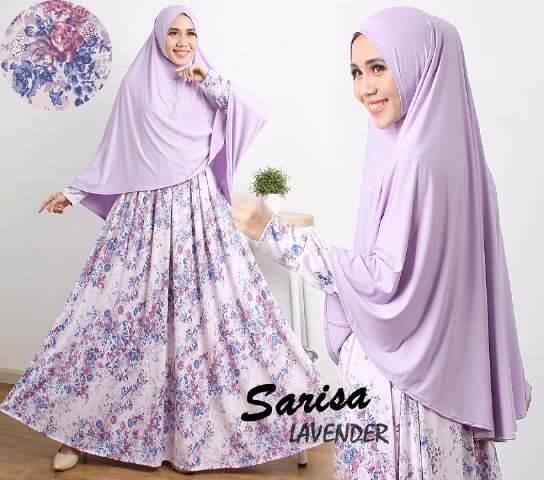 Jual Model Baju Gamis Syari Cantik Sarisa Lavender Model Baju