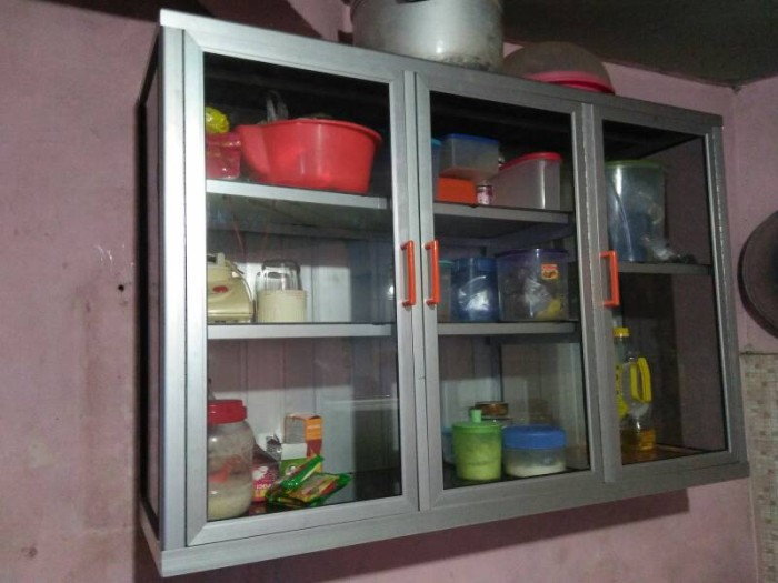 Jual Lemari Gantung Kitchen Set Lemari Alumunium Etalase Rak