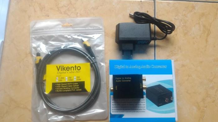 harga Paket digital optic to analog rca audio converter plus kabel toslink Tokopedia.com