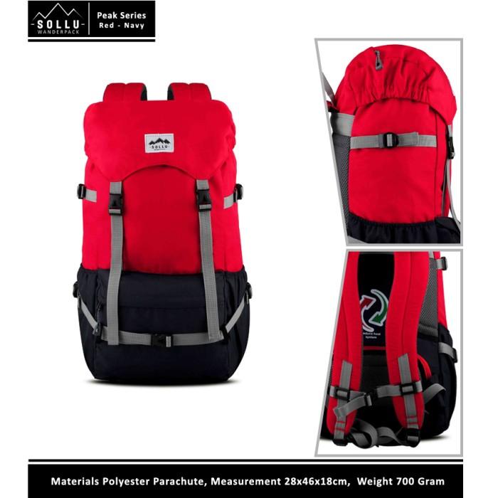 harga Tas ransel waterproof sollu peak red navy / tas laptop pria wanita Tokopedia.com
