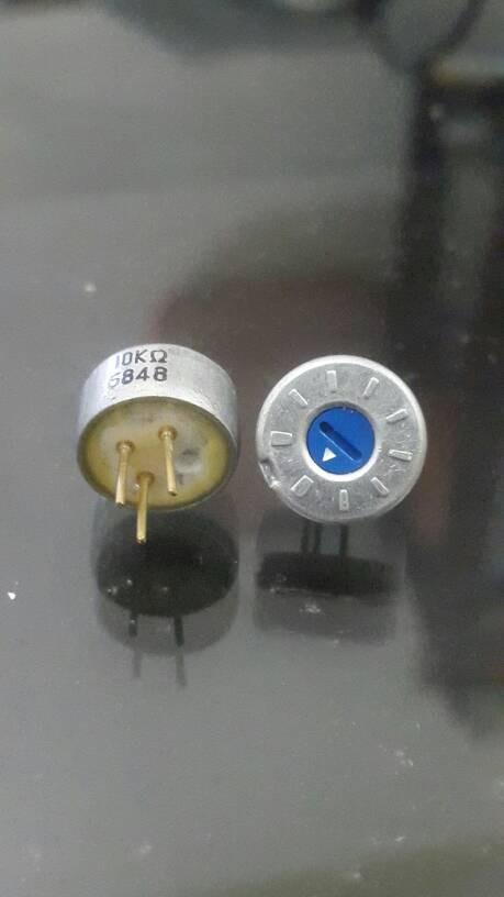 Foto Produk pot trimmer 10k (PWM) metal zink alloy 12.8mm (silver alloy) dari versus box mod supply