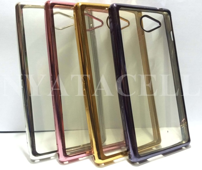 Case List Chrome Sony M2 / Aqua /TPU/Softcase/Silikon/Soft/Cov 112