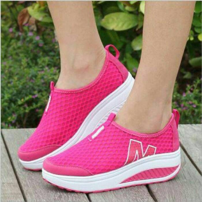 harga Sepatu wanita cewek olahraga kets sport casual running pink rs713 Tokopedia.com