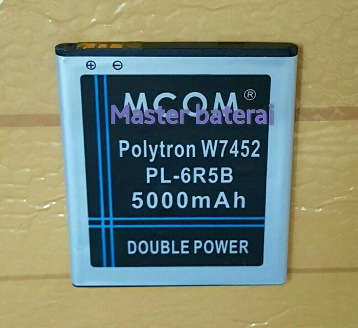 Baterai polytron w7452/pl-6r5b quadra s2 double power ic protection