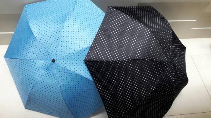 Payung lipat 3 pensil motif volcadot