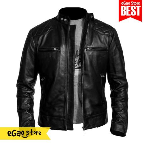 harga Jaket kulit motor keren sintetis / jaket motor pu leather Tokopedia.com