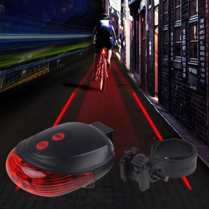 harga Lampu belakang sepeda laser 5led 2garis /bicycle laser tail light /red Tokopedia.com
