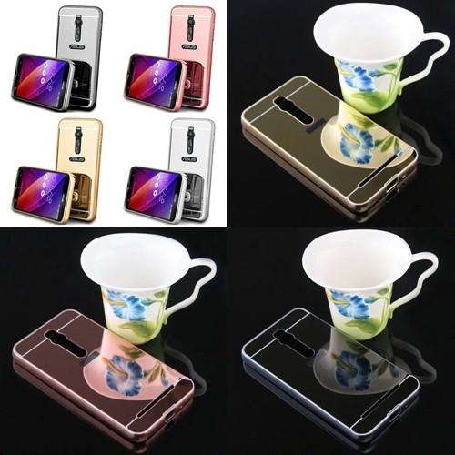 harga Luxury mirror case+aluminium bumper asus zenfone 2 ze550/ze551 ml Tokopedia.com