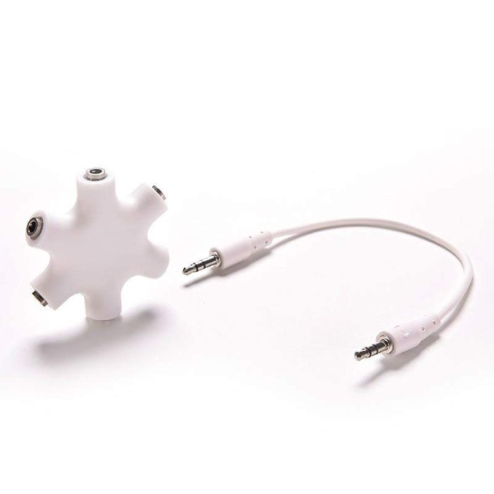 harga Kabel 6-way 3.5mm stereo audio headset hub spliter up to 5 headphone Tokopedia.com