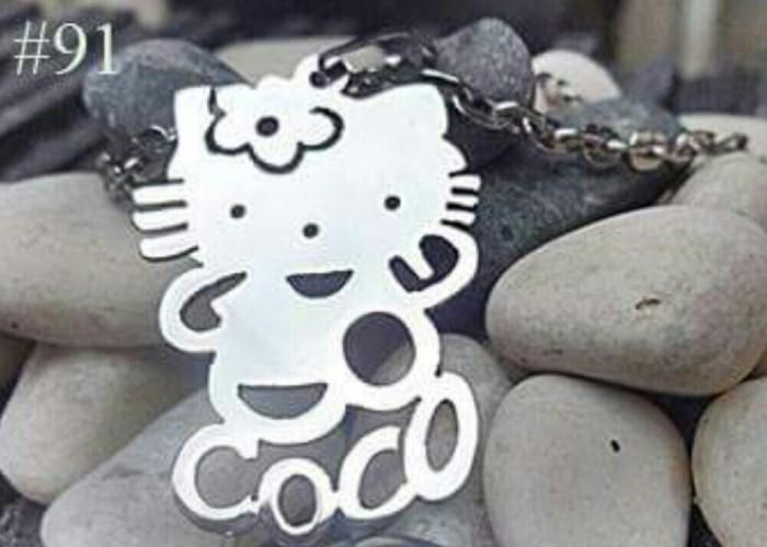 Foto Produk kalung nama model kitty dengan nama kamu. dari A.G accesories