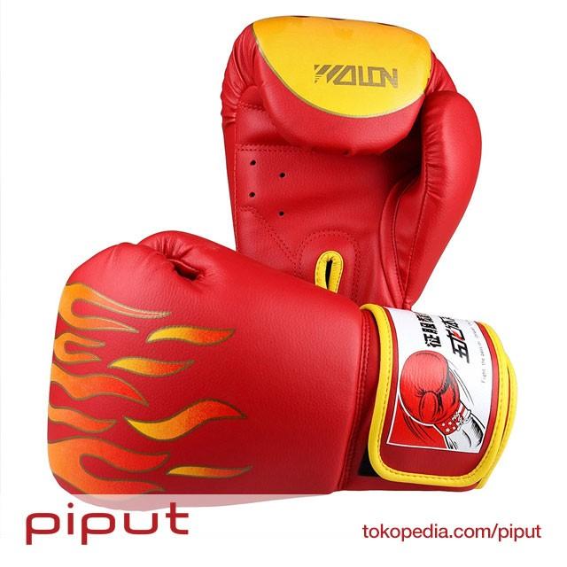 harga Wolon fire fist gloves boxing sarung tinju full glove muay thai merah Tokopedia.com