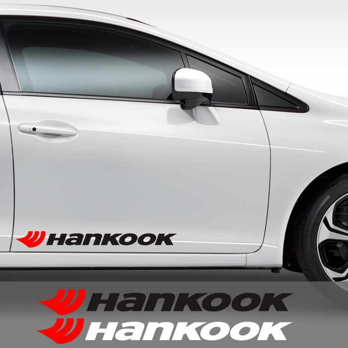 harga Sticker pintu kaca mobil hankook 60 logo cutting stiker racing ban Tokopedia.com