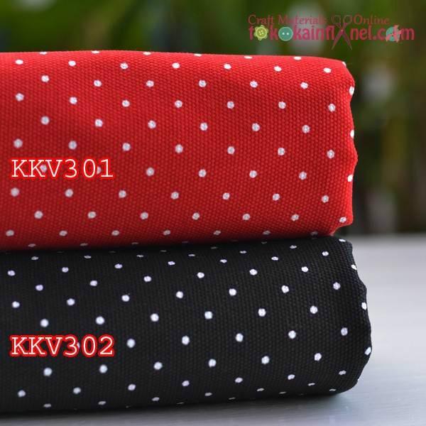 Foto Produk KKV3 Kain Kanvas Motif Bintik Ukuran 48x145cm dari Toko Kain Flanel dot com