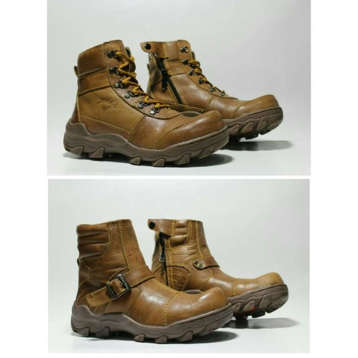 harga Sepatu tracking safety camel kulit boots touring / compt kickers.delta Tokopedia.com