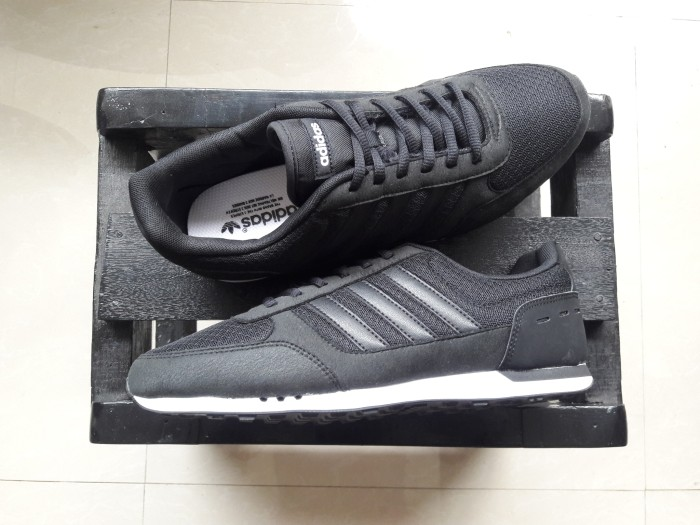 cacbebb8f Jual sepatu adidas neo advantage clean white black 100 original ...