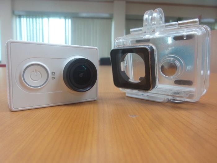 ... Xiaomi Yi Action Camera 16 MP Putih Complete Package Waterproof